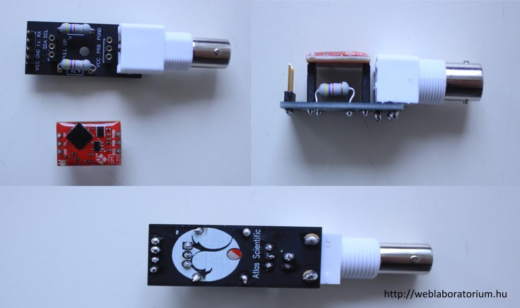 pH circuit + csatlakozó