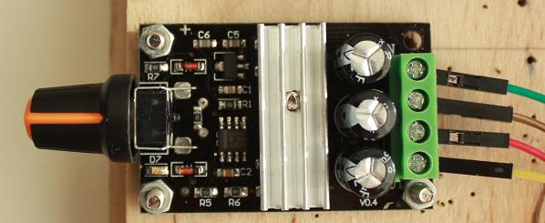 DC motor kontroller
