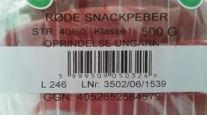 Csomagoláson lévő dán leírás